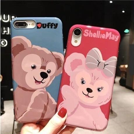 輸入雑貨 ダッフィー 仲間たち ディズニー ケータイカバー  iphone XR XsMAX 最大種類 iphone 8 7 6 6 s  ダッフィー♡シェリーメイ