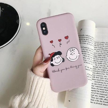 輸入雑貨 スヌーピー ケータイケース snoopy ケータイカバー  iphone XR ケース 最大種類 iphone 8 7 6 6 s-plus チャーリーサリー ピンク