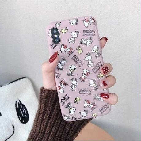 輸入雑貨 スヌーピー ケータイケース snoopy ケータイカバー  iphone XR XsMAX 最大種類 iphone 8 7 6 6 s-plus ミニスヌーピー ローズ