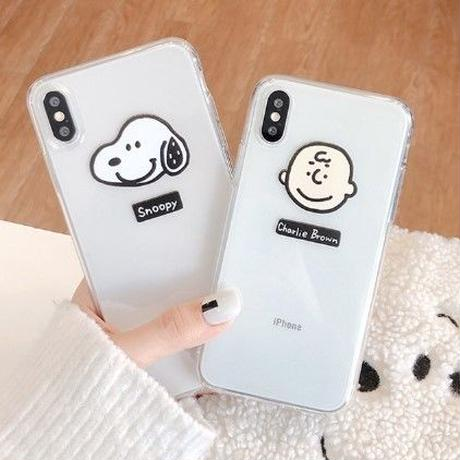 NEWカラー★輸入雑貨 スヌーピー ケータイケース snoopy iphone XR ケース 最大種類 iphone 8 7 6 6 s-plus チャーリーブラウン クリア