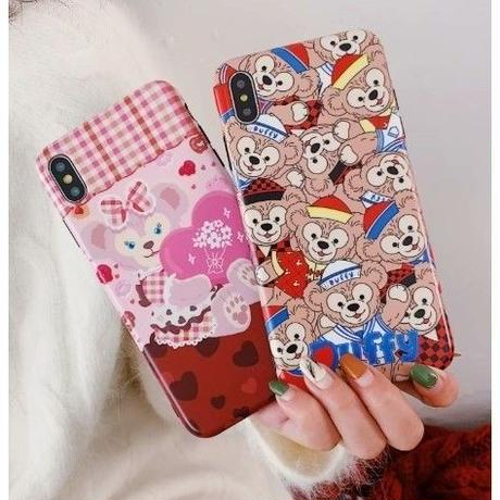 輸入雑貨 ダッフィー 仲間たち ディズニー ケータイカバー  iphone XR XsMAX 最大種類 iphone 8 7 6 6 s  ダッフィー♡シェリーメイ 2