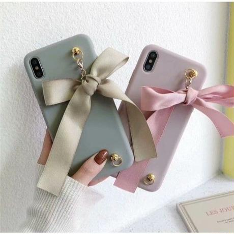 輸入雑貨 シンプル可愛いリボンストラップ iphone 11 Pro MAX 最大種類 iphone 8 7 6 plus ファッションストラップケース