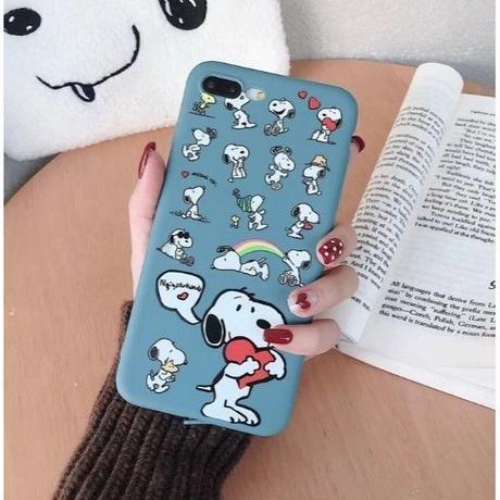 輸入雑貨 スヌーピー ケータイケース snoopy ケータイカバー  iphone XR XsMAX 最大種類 iphone 8 7 6 6 s-plus ミニスヌーピー ブルーグリーン