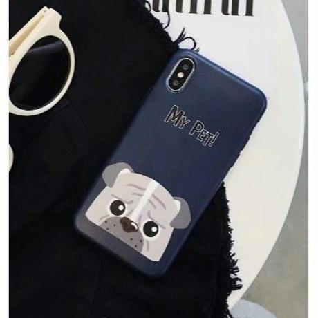 輸入雑貨 Myペット Dog  犬 ケータイカバー iphone XR XsMAX 最大種類 iphone 8 7 6 6 s-plus ブルドッグ