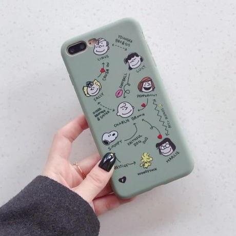 輸入雑貨 スヌーピー ケータイケース snoopy ケータイカバー  iphone XR XsMAX 最大種類 iphone 8 7 6 6 s-plus ピーナッツフレンズ フェイス スモークブルー