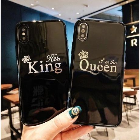 輸入雑貨 シンプル KING & QUEEN  iphone XR ケース 最大種類 iphone 8 7 6 6 s-plus スマホケース  ティアラ3
