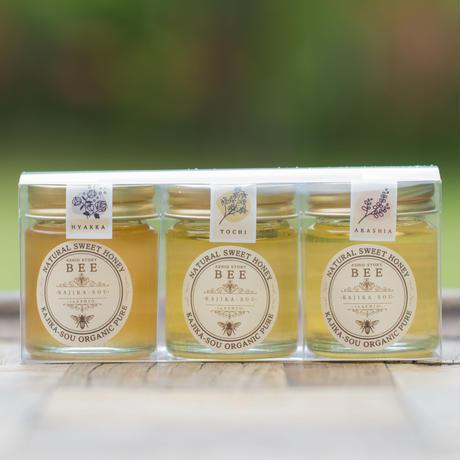 【プレゼントにおすすめ】足尾産ハチミツ3種セット50g ×3
