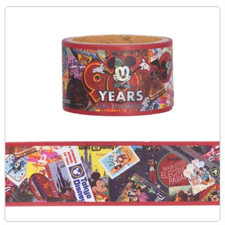 ディズニーリゾート ミッキー生誕90周年グッズ ミッキーマウス マスキングテープ