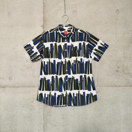 半袖シャツ『トショカン』ネイビー_3