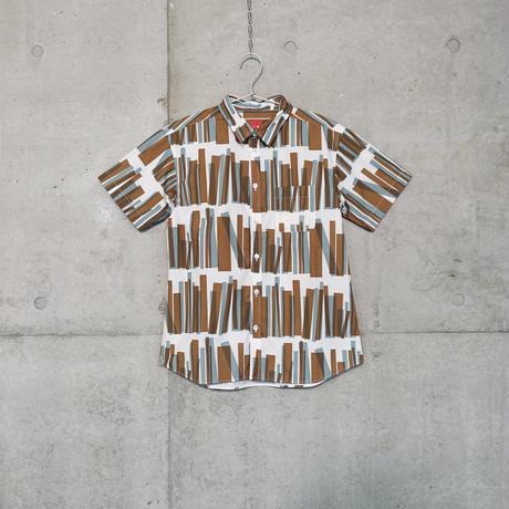 半袖シャツ『トショカン』チャイロ_2