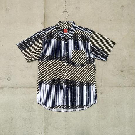 半袖シャツ『シラカミ』ネイビー_4