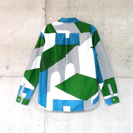 シャツ『フルイマチ』ミドリ_3_c
