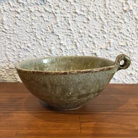田尾明子作 灰釉手付鉢