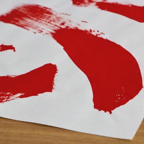 【2周年記念・限定】赤い激情セット (『白亜』+直筆ペイント+メッセージカード)
