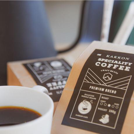 【定期便】スペシャリティーコーヒー ギフトボックス 180g×2(プレミアムブレンド・イタリアンローストブレンド各1袋入り)