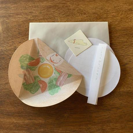 うふcafeのガレットのカード「レタス卵ベーコントマト 」