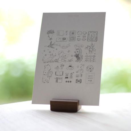 夏のイベントとアマビエのポストカード