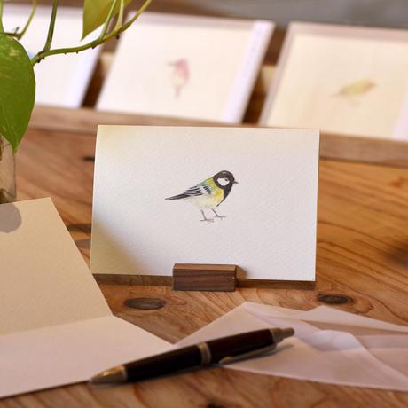小鳥のカード「シジュウカラ 」