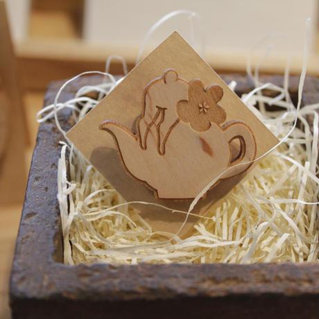 木製ブローチ(小) 05