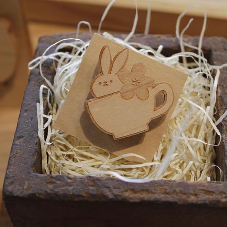 木製ブローチ(小) 04