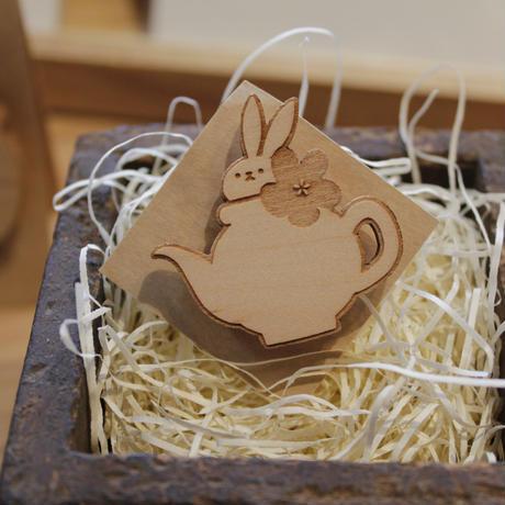 木製ブローチ(小) 01