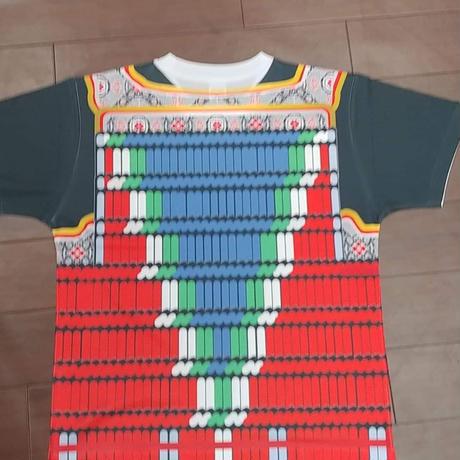 【予約販売】鎧風Tシャツ 沢潟(おもだか)縅の胴丸タイプ -ドライTシャツ-