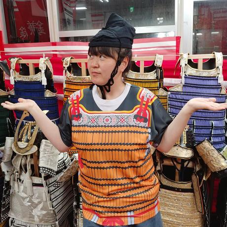 【予約販売】鎧風Tシャツ 橙絲縅の胴丸タイプ -ドライTシャツ-
