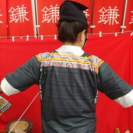 【予約販売】鎧風Tシャツ 黒絲縅の胴丸タイプ -ドライTシャツ-