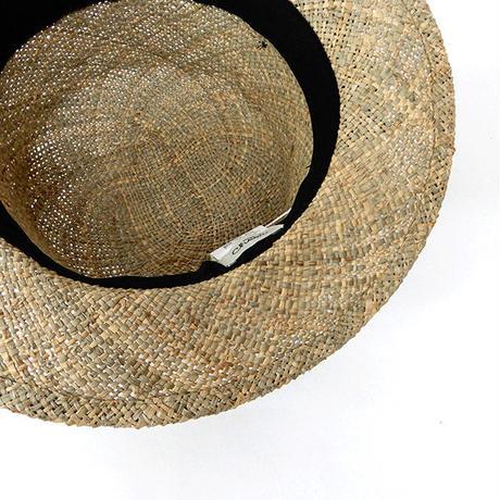 【Cheer】  シーグラスプリーツリボンハット ◆  天然ならではの自然な風合いが夏にぴったり