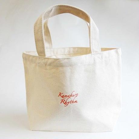 【Kamakura Rhythm】 鎌倉リズムオリジナルコットンバッグ  ◆  お出かけに便利な小さめサイズのトートバッグ