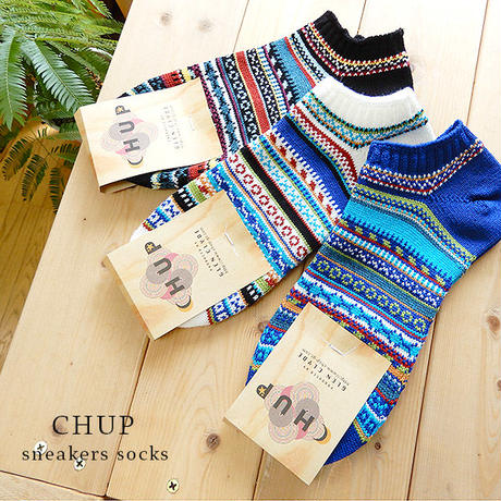 【CHUP】チュプ  アンクル丈ソックス  LINDA(リンダ)   ◆  繊細で美しい配色の最高品質ソックス