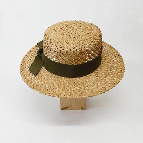 【m.m.Orchestra】エム エム オーケストラ  透かし編みカンカン帽・夏の日よけハットに最適
