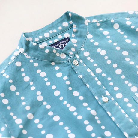【晒シャツ】レディース向け七分袖 泡縞
