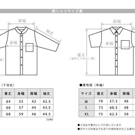 【晒シャツ】メンズ向け半袖 舞とんぼ  青磁