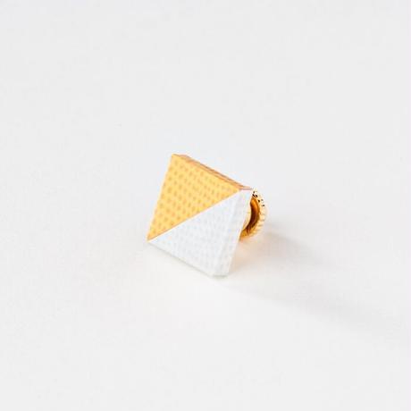 KAMIKA(カミカ) ピンブローチ pin brooch(yellow-white)