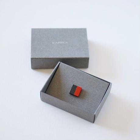 KAMIKA(カミカ) ピンブローチ pin brooch(orange-grey)