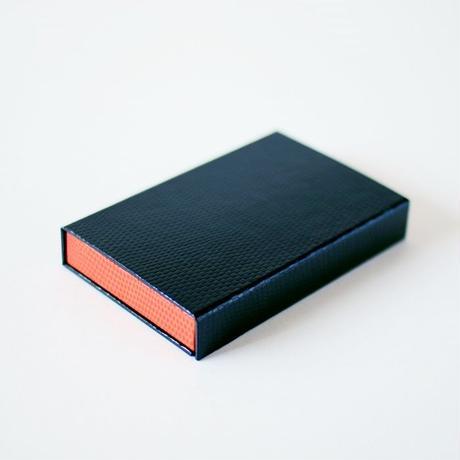KAMIKA(カミカ) 名刺入れ box card case(black-orange)