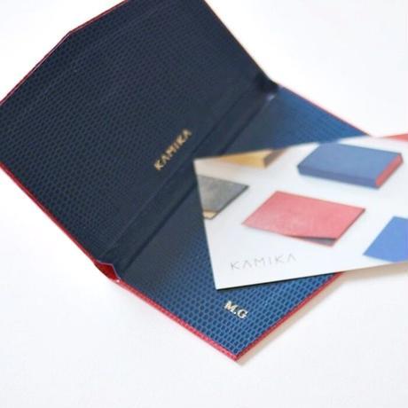 KAMIKA(カミカ) 名刺入れ slim card case  カスタム(10 colors)