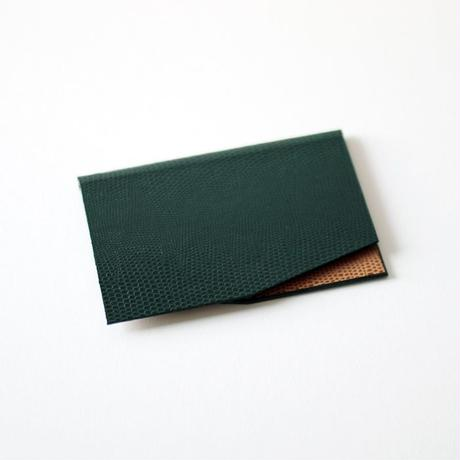 KAMIKA(カミカ) 名刺入れ slim card case(green-camel)