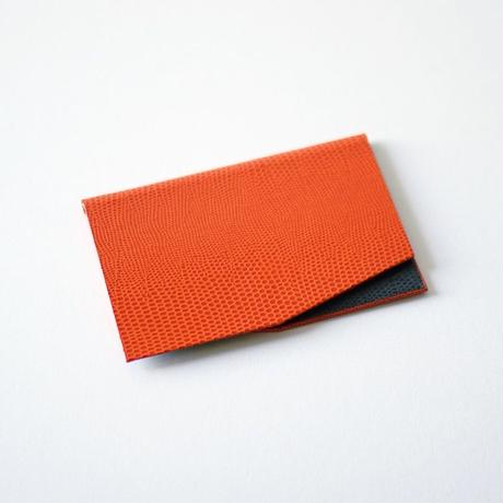 KAMIKA(カミカ) 名刺入れ slim card case(orange-grey)