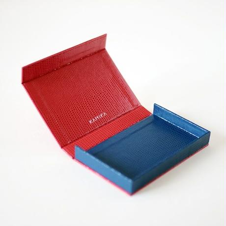 KAMIKA(カミカ) 名刺入れ box card case(red-blue)