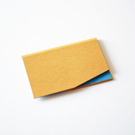slim card case(yellow-LTblue)