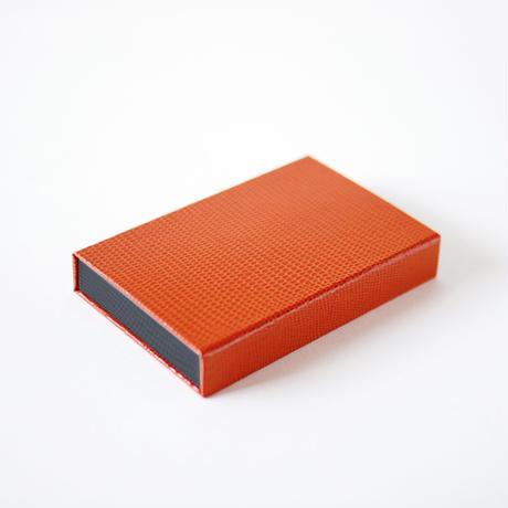 KAMIKA(カミカ) 名刺入れ box card case(orange-grey)