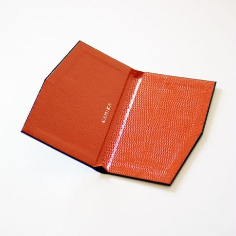 KAMIKA(カミカ) 名刺入れ slim card case(black-orange)