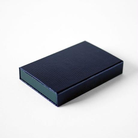 KAMIKA(カミカ) 名刺入れ box card case(navy-green)