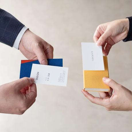 KAMIKA(カミカ) 名刺入れ slim card case(blue-orange)