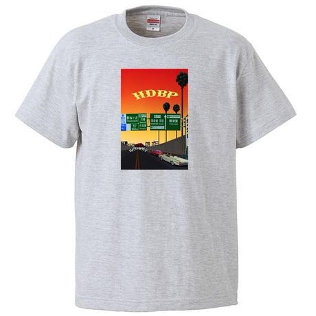 HDBP T-Shirt / Ash×Purple / Ash×Orange