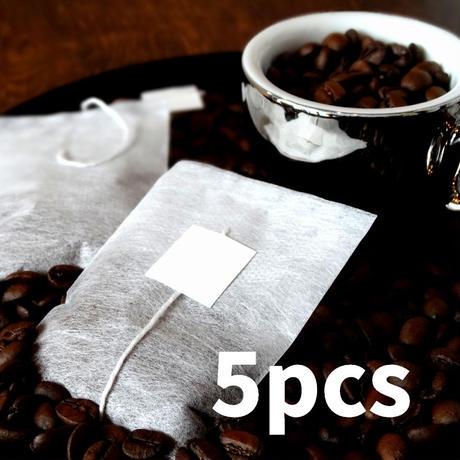 【5個入】かんたんコーヒーバッグ★手軽に簡単お湯だけ2分★