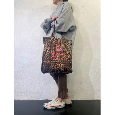 with me tote / leopard