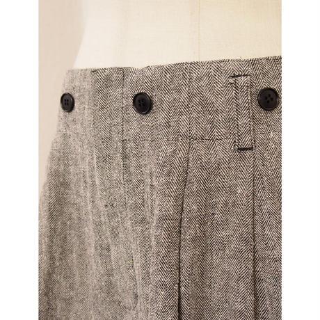 2101PT01  CLASSIC HERRINGBONE PANTS/black